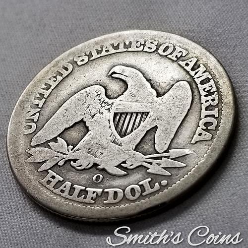1854-O ~ With Arrows ~ Seated Liberty Half Dollar ~ Good