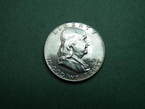 1949 P Franklin Half Dollar BU Coin   v69