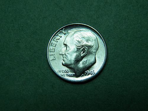 1946 D Roosevelt Dime Brilliant Uncirculated Coin   v81