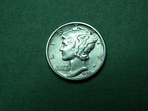 1929 D Mercury Dime Very Fine Coin   v89