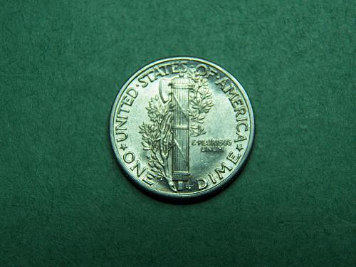 1938 P Mercury Dime Brilliant Uncirculated Coin   v95