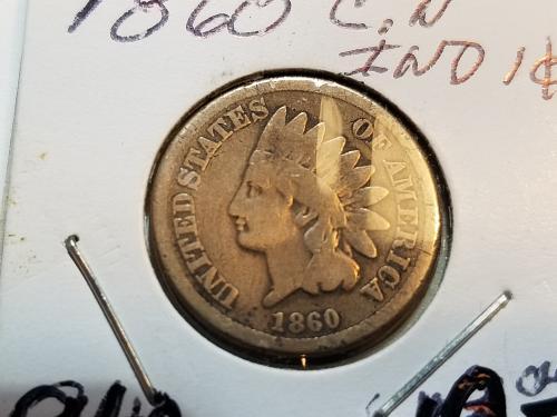 1860 P Indian Head (F)