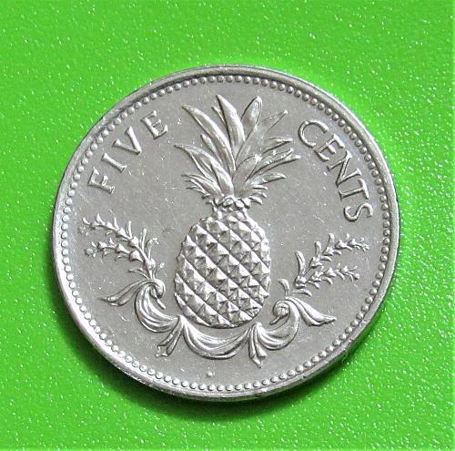 1998 Bahamas 5 Cents
