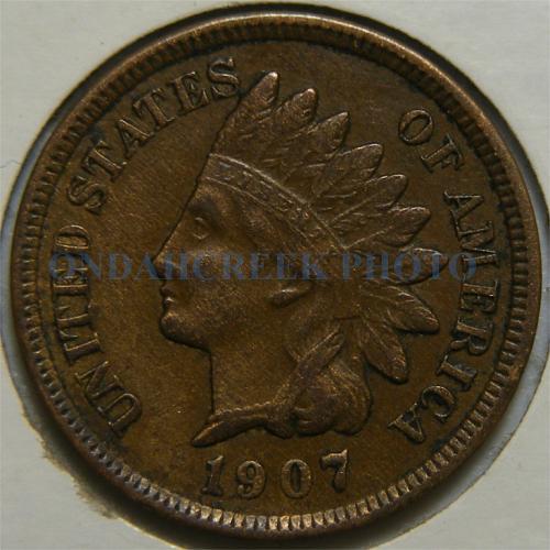 1907 Indian Cent Nice XF Snow 7 RPD