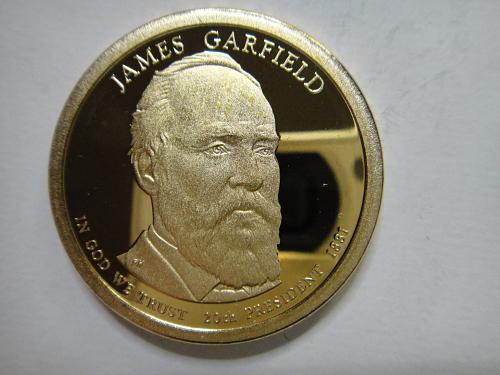 2011-S Garfield Presidential Dollar Proof-65 (GEM)
