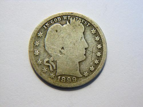 1899-P Silver Barber Quarter
