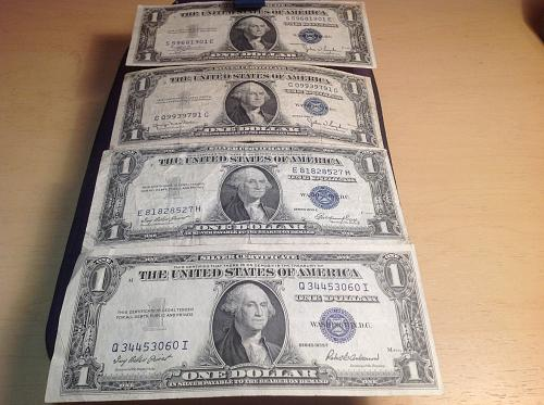 (4) 1935 Silver Certificates