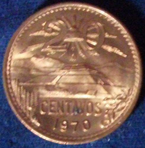1970 Mexico 20 Centavos BU