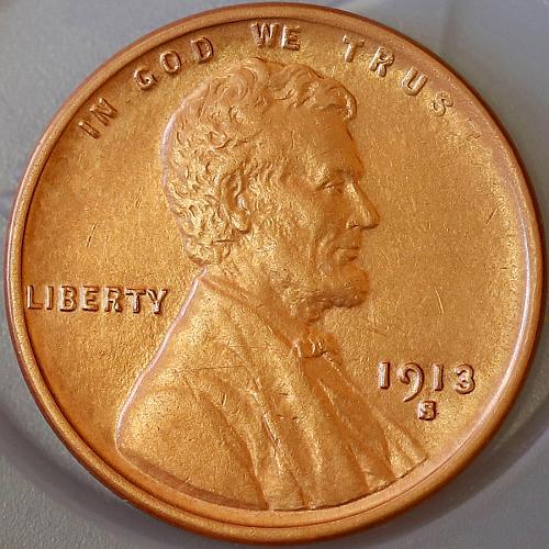 1913 S Lincoln Wheat Cent - Gem BU / MS / UNC