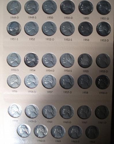 1938-2010 Jefferson Nickel Set in Dansco Album