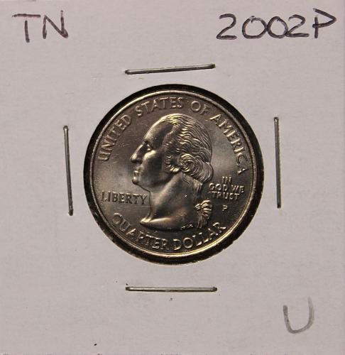 2002 P Tennessee Quarter Dollar