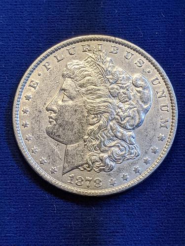 1878-7TF XF MORGAN DOLLAR