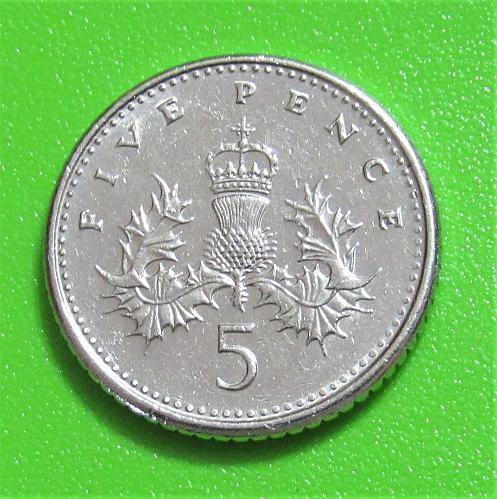 1992 United Kingdom 5 Pence