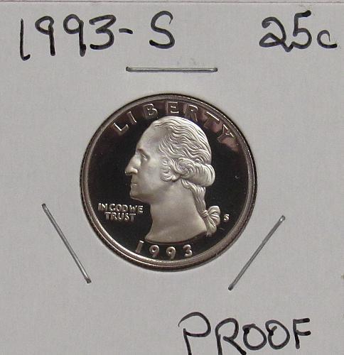 1993 S Proof Washington Quarter