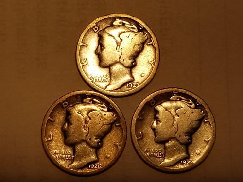 1925 P Set of 3 - 1925 P, 1926 P, 1928 P