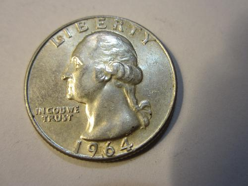 1964 P 90% Silver Washington Quarter. SEE PICTURES