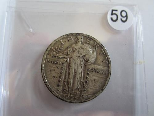 Great Looking1927-P Standing Liberty Quarter Priced to Sell! (Box 2 #59)