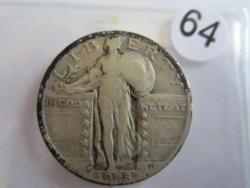 Great Looking1928-D Standing Liberty Quarter Priced to Sell! (Box 2 #64)
