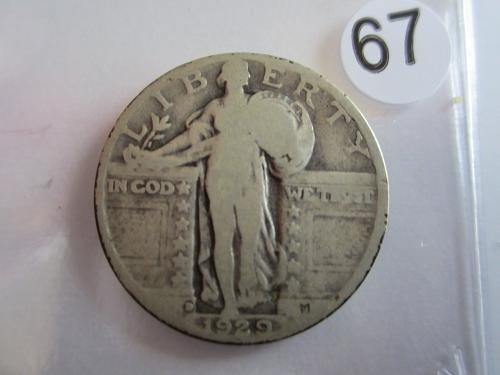 Great Looking1929-D Standing Liberty Quarter Priced to Sell! (Box 2 #67)