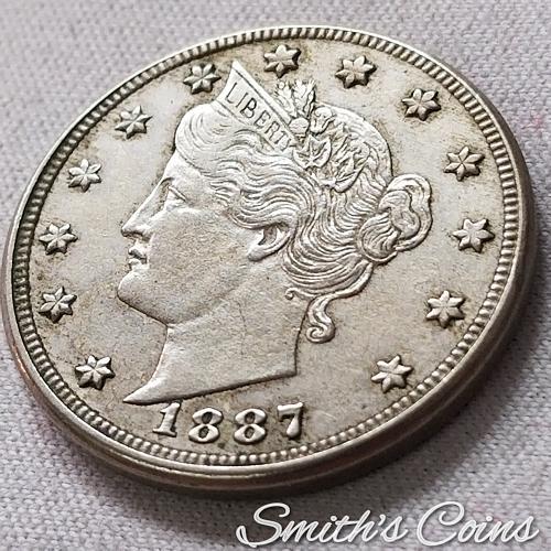 1887 Liberty Nickel ~ XF 45