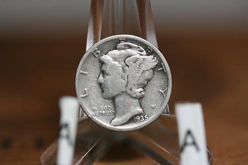 1935 Mercury Dime VG 90% Silver