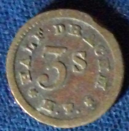 Half Drachm Apothecaries Weight, H.T.