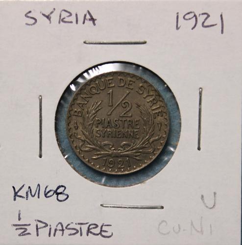 Syria 1921 1/2 piastre