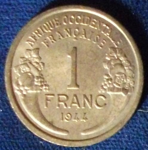 1944 French West Africa Franc AU
