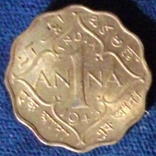 1943(c) India/British Anna UNC