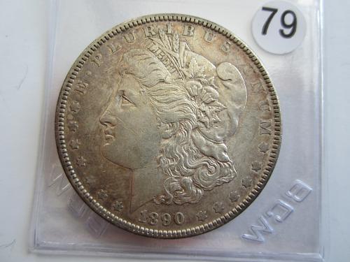 "1890-P Morgan Dollar Eye Pleasing Toning ""Great Pricing"" Never undersold!"