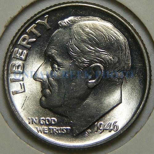 1946-D Roosevelt Dime RPM-020 BU