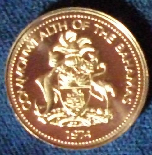 1974 Bahamas Cent Proof