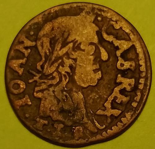 1660 T0 1665 POLAND SOLIDUS SZELAG COPPER #2