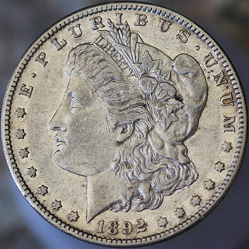 1892 S Morgan Silver Dollar - AU / Almost Uncirculated