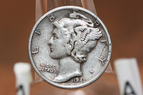 1941 S  Mercury dime 90% Silver.