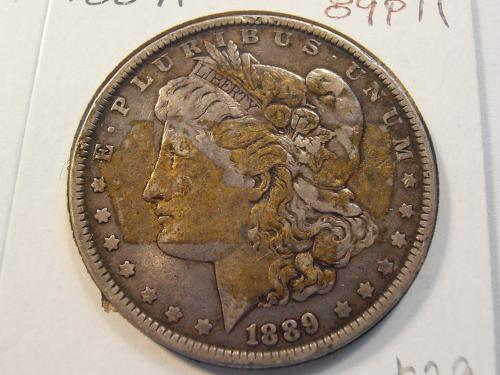1889 P Morgan Silver Dollar  (89P11)
