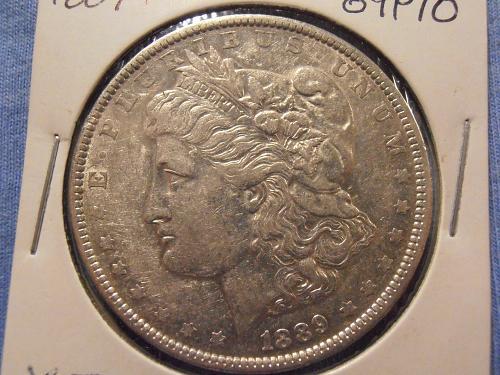 1889 P Morgan Silver Dollar  (89P10)