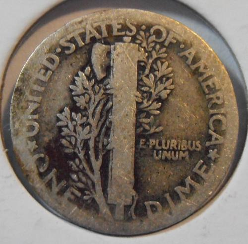 1916 P Mercury Silver Dime,   (16PAC1)