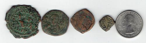 4 Byzantine Coins