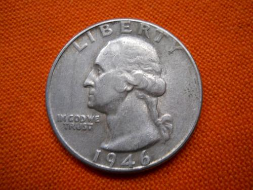 1946-D Washington Quarter. Extremely Fine Grade. Original Surfaces. Some luster.