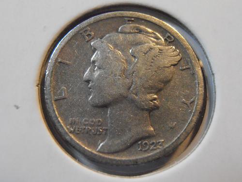 1923 P Mercury Silver Dime (23PFN1)