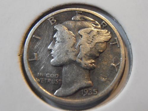 1935 S Mercury Silver Dime (35SM4)