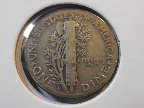 1936 D Mercury Silver Dime (36DM4)