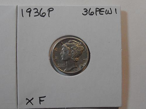 1936 P Mercury Silver Dime (36PEW1)