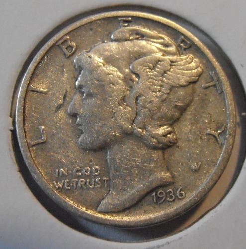 1936 P Mercury Silver Dime (36PEW2)