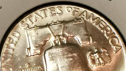 1961 Franklin Silver Half dollar Proof  Great eye appeal see photos