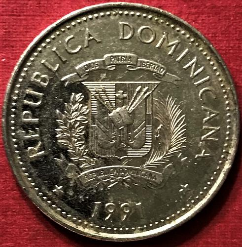 Dominican Republic 1991 - 25 Centavos