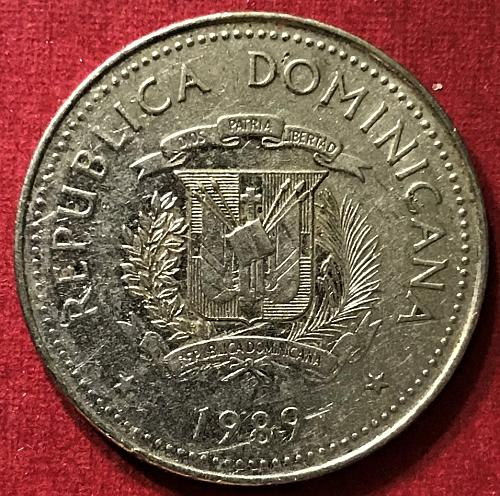 Dominican Republic 1989 - 25 Centavos [#2]