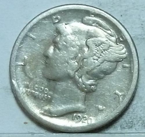 1920-S Extra Fine  Mercury Dime XF ( 226)