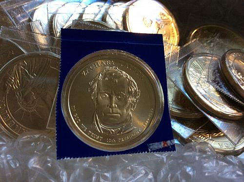 2009-P  Presidential Dollar.  Zachary Taylor from mint sets.